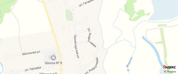 Улица Андрухаева на карте аула Нешукай Адыгеи с номерами домов
