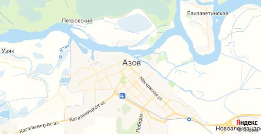 Карта Азова с улицами и домами подробная. Показать со спутника номера домов онлайн