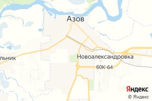 Карта г. Азов Ростовская область