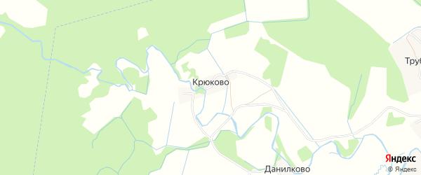 Карта деревни Крюково в Ярославская области с улицами и номерами домов