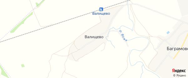 Территория СНТ Прогресс на карте деревни Валищево Рязанской области с номерами домов