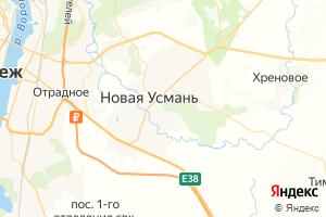 Карта с. Новая Усмань Воронежская область