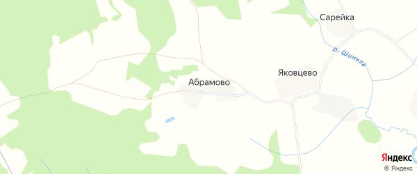 Карта деревни Абрамово в Вологодской области с улицами и номерами домов