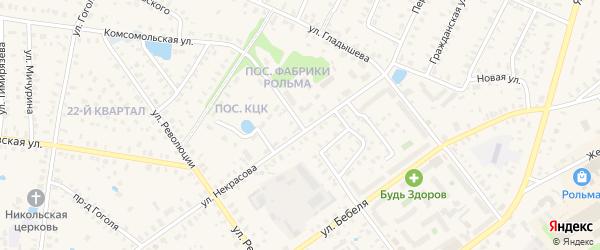 Ново-Некрасовская улица на карте Ростова с номерами домов