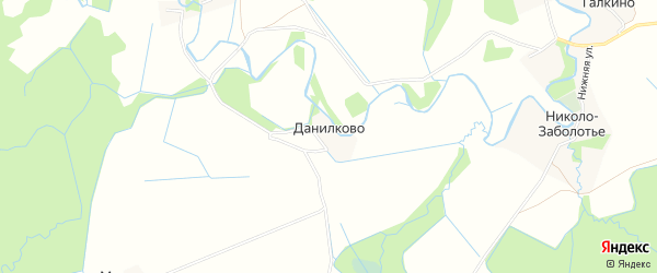 Карта деревни Данилково в Ярославская области с улицами и номерами домов