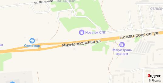 Нижегородская улица в Петушках с номерами домов на карте. Спутник и схема онлайн