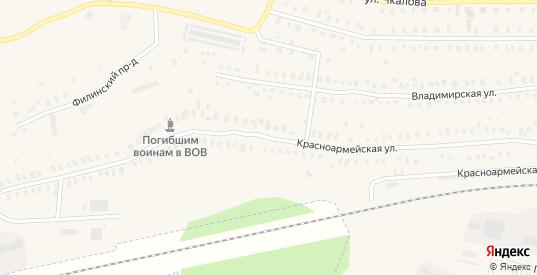 Красноармейская улица в Петушках с номерами домов на карте. Спутник и схема онлайн