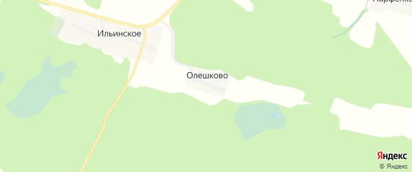 Карта деревни Олешково в Ярославская области с улицами и номерами домов