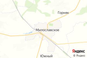 Карта пгт Милославское Рязанская область