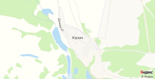 Карта хутора Калач в Лисках с улицами, домами и почтовыми отделениями со спутника онлайн
