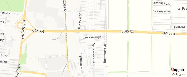 Карта поселка Машиностроителя города Азова в Ростовской области с улицами и номерами домов