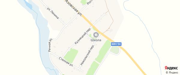 Школьный переулок на карте хутора Павловки Ростовской области с номерами домов