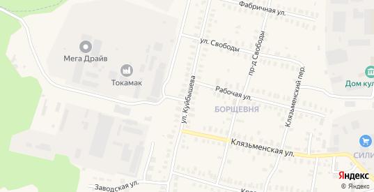 Улица Куйбышева в Петушках с номерами домов на карте. Спутник и схема онлайн