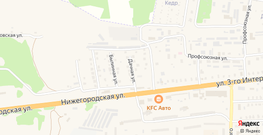 Дачная улица в Петушках с номерами домов на карте. Спутник и схема онлайн