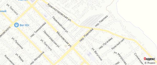 Дачный переулок на карте Азова с номерами домов