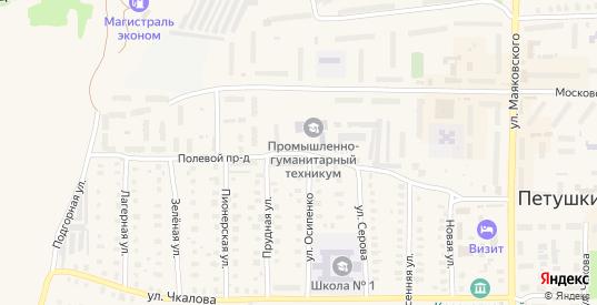 Полевой проезд в Петушках с номерами домов на карте. Спутник и схема онлайн