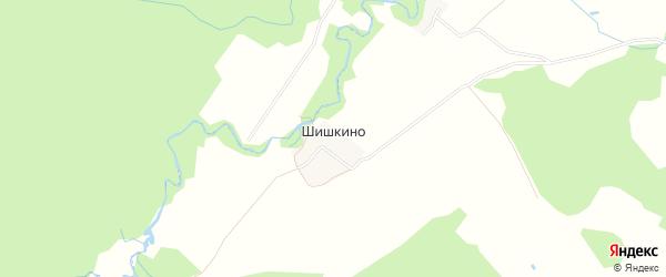Карта деревни Шишкино в Ярославская области с улицами и номерами домов