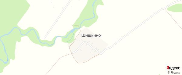 Лесная улица на карте деревни Шишкино Ярославская области с номерами домов