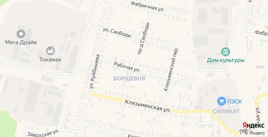 Проезд Свободы в Петушках с номерами домов на карте. Спутник и схема онлайн