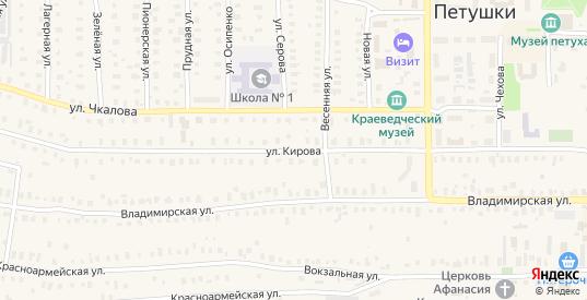 Улица Кирова в Петушках с номерами домов на карте. Спутник и схема онлайн