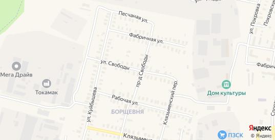 Улица Свободы в Петушках с номерами домов на карте. Спутник и схема онлайн