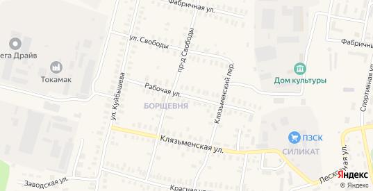 Рабочая улица в Петушках с номерами домов на карте. Спутник и схема онлайн