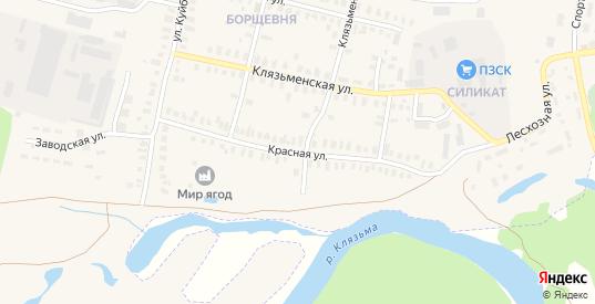 Красная улица в Петушках с номерами домов на карте. Спутник и схема онлайн