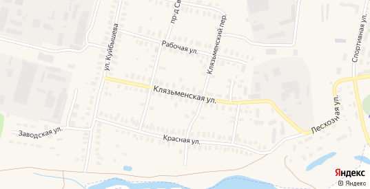 Клязьменская улица в Петушках с номерами домов на карте. Спутник и схема онлайн