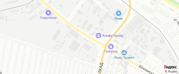 Юношеская улица на карте Липецка с номерами домов