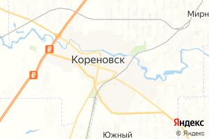 Карта г. Кореновск Краснодарский край