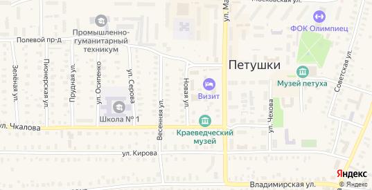 Новая улица в Петушках с номерами домов на карте. Спутник и схема онлайн