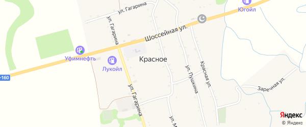 Дорога А/Д Энем-Адыгейск-Бжедугхабль на карте Красного села Адыгеи с номерами домов
