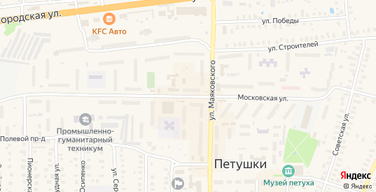 Московская улица в Петушках с номерами домов на карте. Спутник и схема онлайн