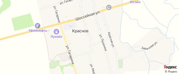 Улица Мира на карте Красного села Адыгеи с номерами домов