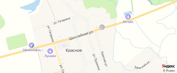 Улица Пушкина на карте Красного села Адыгеи с номерами домов