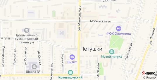 Улица Маяковского в Петушках с номерами домов на карте. Спутник и схема онлайн