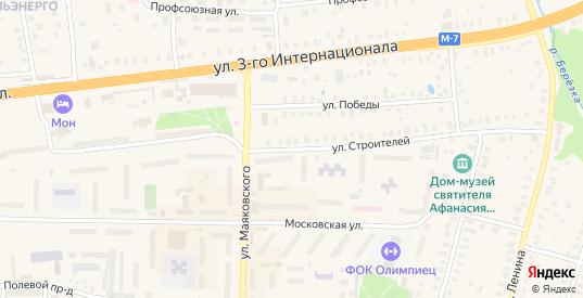 Улица Строителей в Петушках с номерами домов на карте. Спутник и схема онлайн