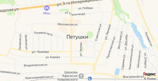 СТ Городской-1 на карте Петушков с номерами домов