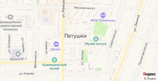 Северный переулок в Петушках с номерами домов на карте. Спутник и схема онлайн