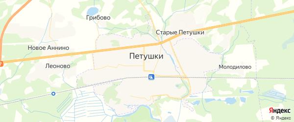 Карта Петушков с районами, улицами и номерами домов