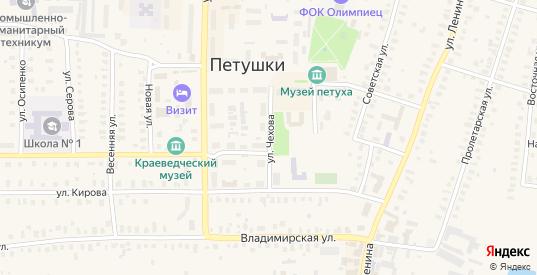 Улица Чехова в Петушках с номерами домов на карте. Спутник и схема онлайн
