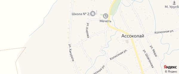 Улица Андрухаева на карте аула Ассоколая с номерами домов