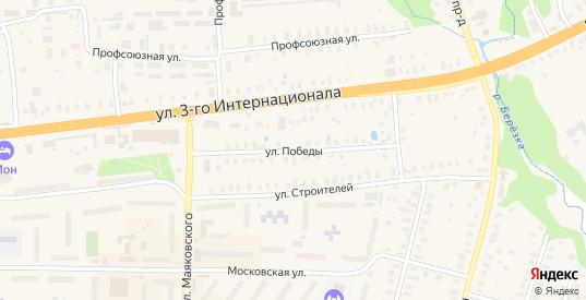 Улица Победы в Петушках с номерами домов на карте. Спутник и схема онлайн