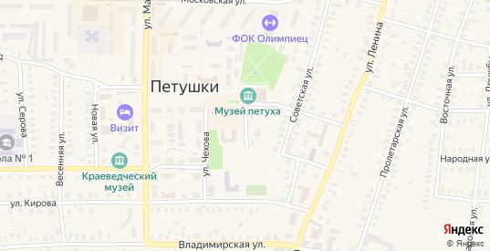 Чкаловский проезд в Петушках с номерами домов на карте. Спутник и схема онлайн