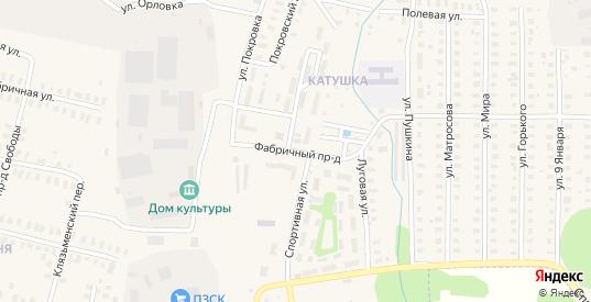 Фабричный проезд в Петушках с номерами домов на карте. Спутник и схема онлайн