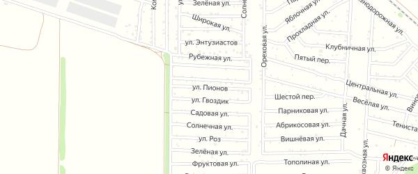 Улица Пионов на карте территории Донские зори Ростовской области с номерами домов