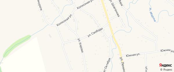 Улица Свободы на карте аула Ассоколая Адыгеи с номерами домов