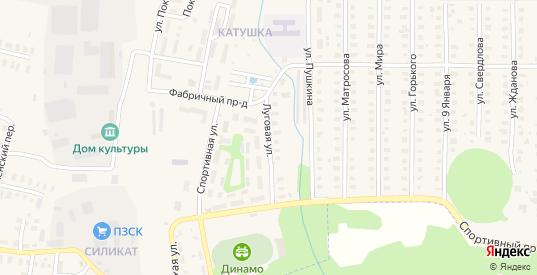 Луговая улица в Петушках с номерами домов на карте. Спутник и схема онлайн
