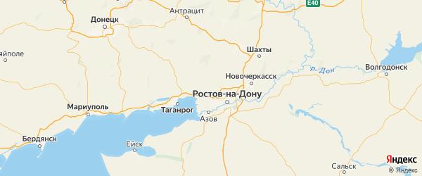 Карта Мясниковского района Ростовской области с городами и населенными пунктами