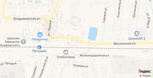 Вокзальная улица в Петушках с номерами домов на карте. Спутник и схема онлайн